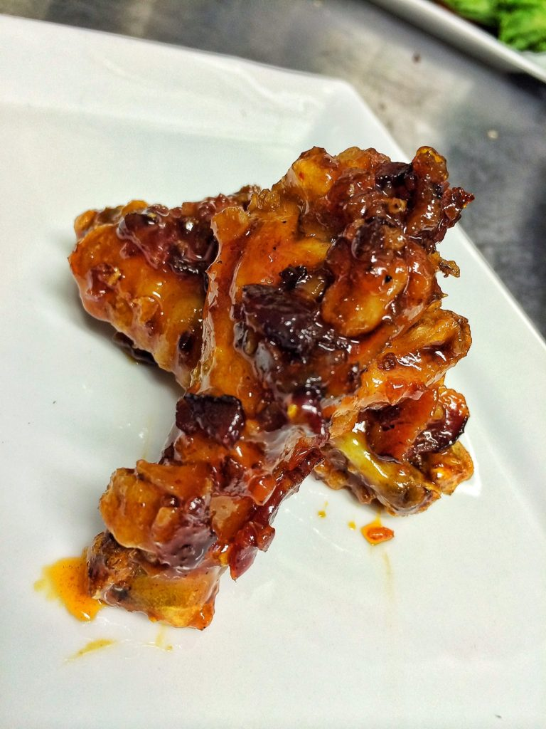 little pub maple bacon chipotle wings