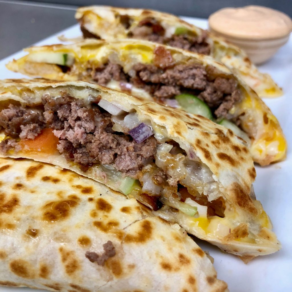 Little Pub Cheeseburger Quesadilla