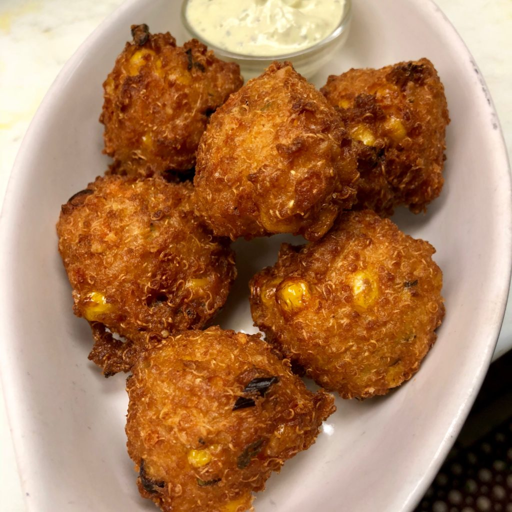little pub quinoa hushpuppies