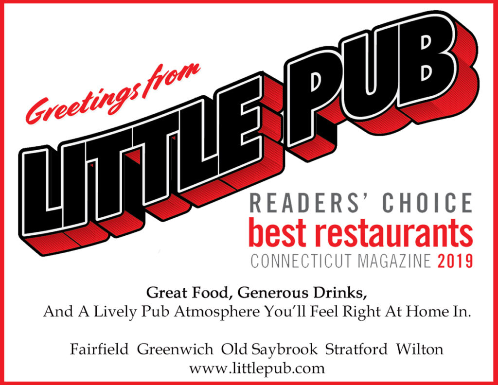 here is feel free to vote for us in that category as well. There is still time to vote for Little Pub in the CT magazine Best of CT readers' poll.